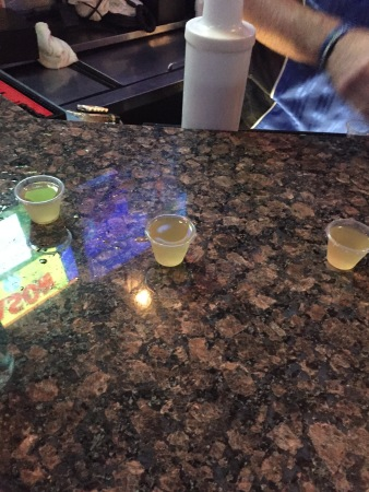 green tea shots