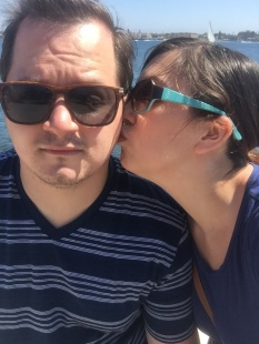 kisses in san diego harbour