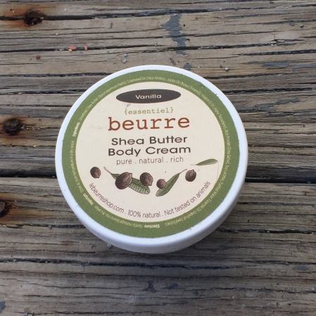 beurre body cream empty